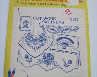 Aunt Martha's Hot Iron Transfers - 3817 - CUT WORK for LINENS - Never Used