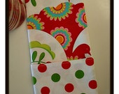 Christmas Holiday Reversible Cotton Cloth Napkins Partridge Floral and Dots Set of 4