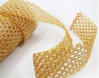 2 yards Metalic gold net , 54mm