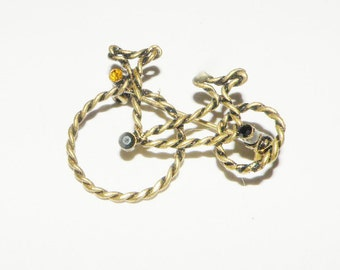 Rhinestone Tricycle Brooch, rhinestone bike pin, tricycle pin