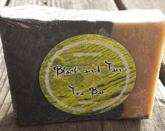 Black and Tan Tea Bar Beer Soap - Vegan - Handmade Soap