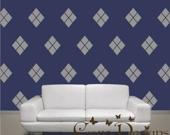 Diamonds  12 Graphics Set - Vinyl Wall Decals Stickers Patterns, Diamonds patterns wall decal sticker