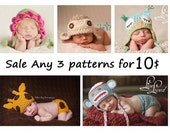 SALE ANY 3 PDF Patterns for 10.00