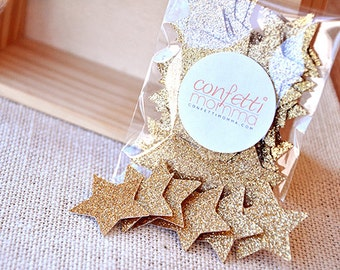 Glitter Gold Star Confetti 50ct. Handcrafted in 2-5 Business Days. 1st Birthday Party ...