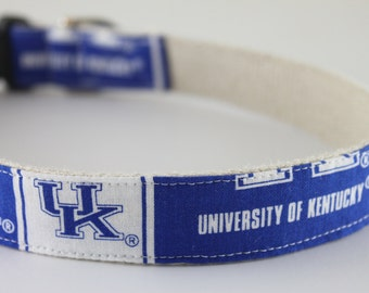 UK Kentucky Wildcats hemp dog collar or leash