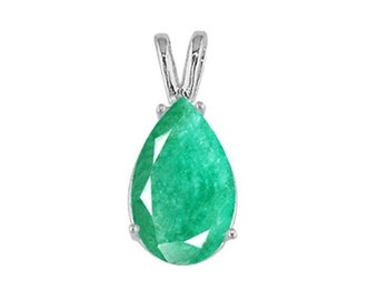 emerald pendant sterling jewelry
