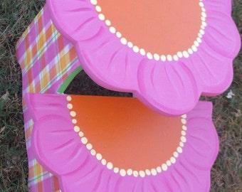 Childrens Step Stool, Daisy, Kids Furniture, Bathroom Stool, Personalized Gifts, Nursery decor, Daisy Flower