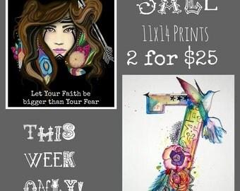 SALE- 2/11x14 prints