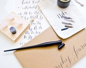 Calligraphy Starter Kit with Gift Box + Ships Quickly + ON SALE + Free Name Personalization
