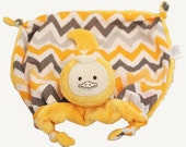 Duck Security Blanket, Baby Lovey, Small Baby Blanket, Duck Stuffed Animal, Sensory Blanket, Teething Toy, Gender Neutral, Baby and Children
