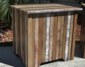 Beach-y Storage Chest, Rustic Trunk, Blanket Box, Bed Side Table, Bench Seat