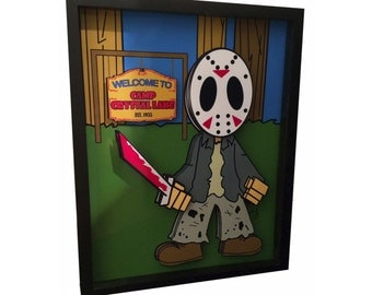 Friday the 13th Poster Jason Voorhees Mask 3D Pop Art