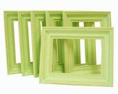 Home Decor 5x7 Picture Frames Art Photography Frame Set Lime Green or Custom Spring Wall Art Nursery Wedding