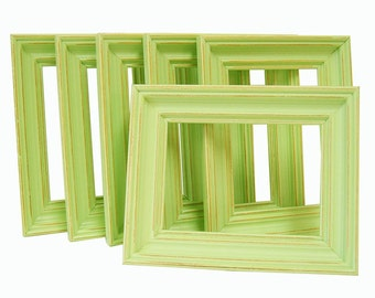 Home Decor 5x7 Picture Frames Art Photography Frame Set Lime Green or Custom Spring Wall Art Nursery Wedding