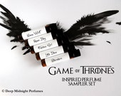 Game of Thrones inspired Perfume Sampler Set - perfume samples