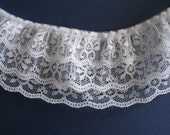 "One Yard 2 1/2""  White Lace Trim"