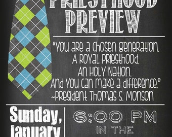 Customized Priesthood Preview Invitation