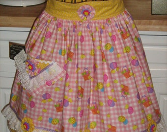 Easter Waist Apron Adult Small/Child Large