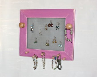 Jewelry Organizer Jewelry Display for Earrings Necklaces and Bracelets Wall Storage.