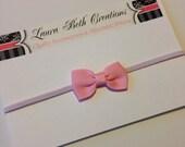 Light Pink Mini Bow Headband - Baby Headband - Toddler Headband - Newborn Headband - Bow Headband - Infant Headband - Girl Headband