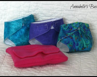 Doll Diapers, Wipes & Case - Baby Doll and American Girl Doll Accessories