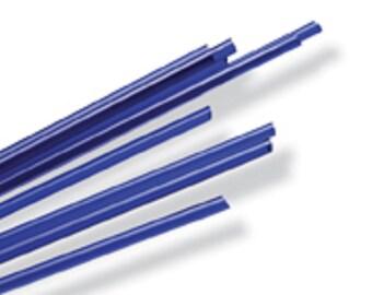 Glass Beadmaking Supplies - COE96 Dark Blue 1 pound Glass Rods