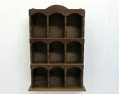 Vintage Cubby Shelf Shadow Box / Curio Display