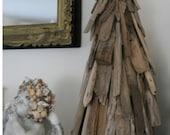 Coastal Shores Rustic Driftwood Christmas Tree Display