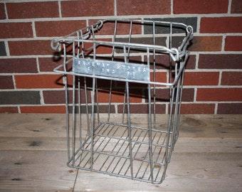 Vintage Metal Grocery Crate