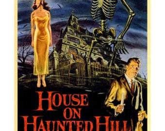 Magnet- House on Haunted Hill movie poster magnet Vincent Price horror