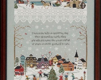 Christmas Village - Victoria Sampler Leaflet 75 Plus 2 Thread Accessory Packs -  But No Fabric