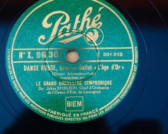 Rare and early Pathe Recording. 78 rpm. Avant garde, Russian Modernism. Polka by Shostakovich and Danse Russe. No. X 96.301