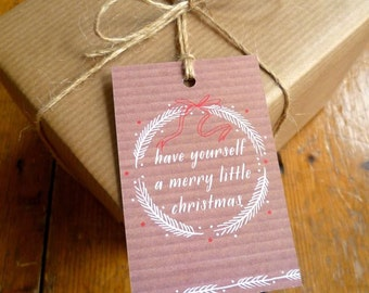 SALE Pack of 6 Brown Paper Christmas Tags