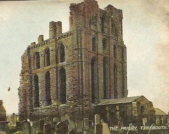 The Priory TYNEMOUTH Northumberland Antique Postcard from Publisher Hartmann