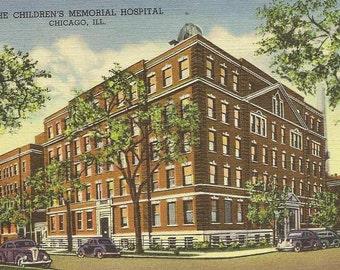 The Children's Memorial Hospital Chicago Illinois Vintage Linen Postcard 1950