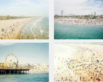 Beach Photography Set, California Photography,  Gallery Wall Prints, Santa Monica, Los Angeles, Beach Gallery Wall, California Art