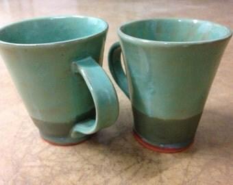 Set of 2 Large Handmade Mugs