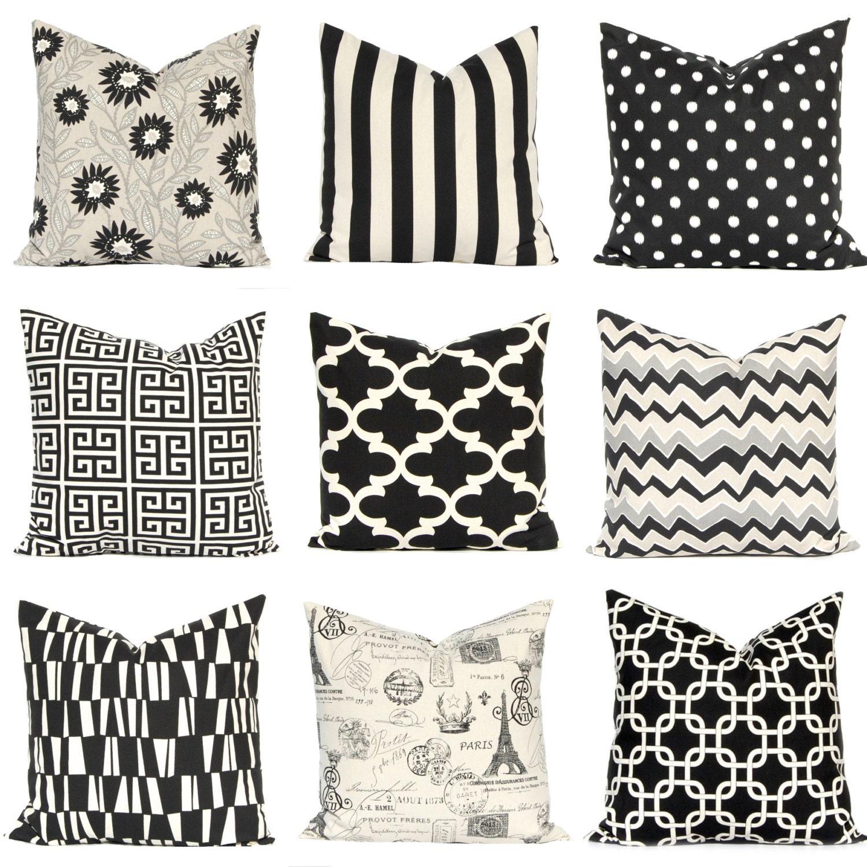 Black Pillow Covers Black Cushion Covers Sofa Pillows