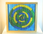 Stained Glass Freestanding Mosaic Geometric Table Top Home Decor Abstract Art
