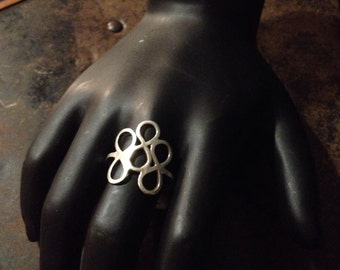 Size 6.5 - Triple Infinity Handmade Reiki Infused Sterling Silver Ring