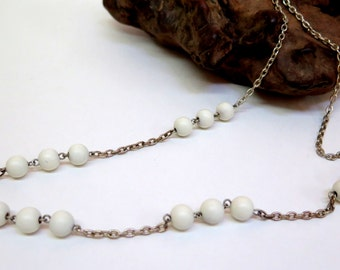 Vintage Bead & Chain Necklace