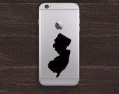 New Jersey Silhouette Vinyl iPhone Decal BAS-0152