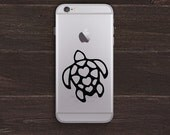 Hawaiian Turtle Vinyl iPhone Decal BAS-0217