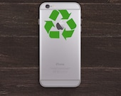 Recycle Apple Vinyl iPhone Decal BAS-0178