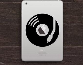 DJ Apple Turntable Vinyl iPad Decal BAS-0150