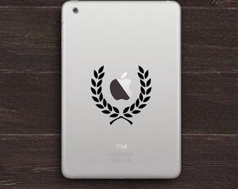 Laurel Wreath Vinyl iPad Decal BAS-0153