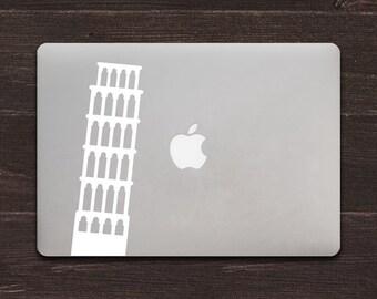Leaning Tower of Pisa Vinyl MacBook Decal BAS-0221