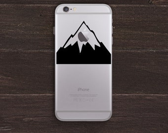 Mount Apple, Mountain Vinyl iPhone Decal BAS-0259