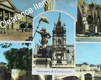 Vintage French Postcard - Compiègne, Oise, France (Clearance Item)