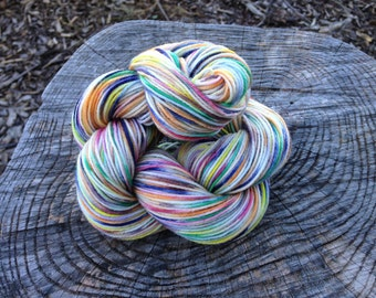 READY TO SHIP Grandpa Loves Sprinkles Half Pint Sock 75/25% Superwash Merino Nylon Blend Hand Dyed Sock Yarn 50gr